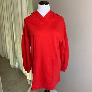 Large Tunic Hoodie with Puff Sleeve